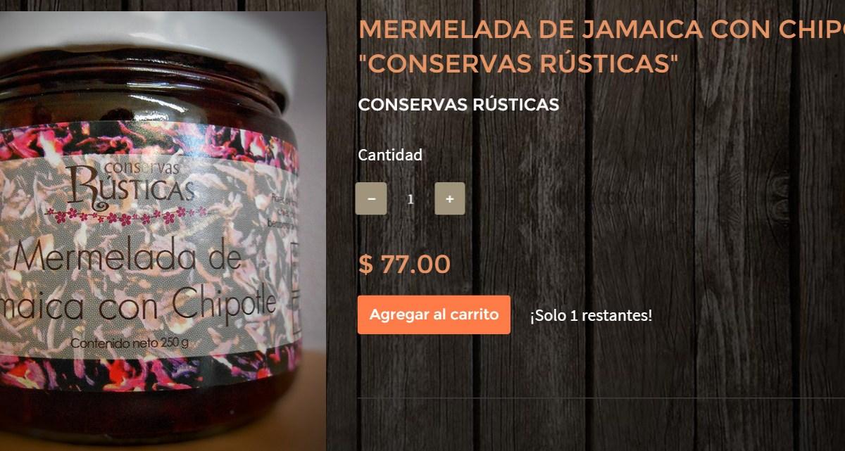 """Gourmands Market Mermelada de Jamaica con Chipotle """"Conservas Rústicas"""" @ConservasRustic"""