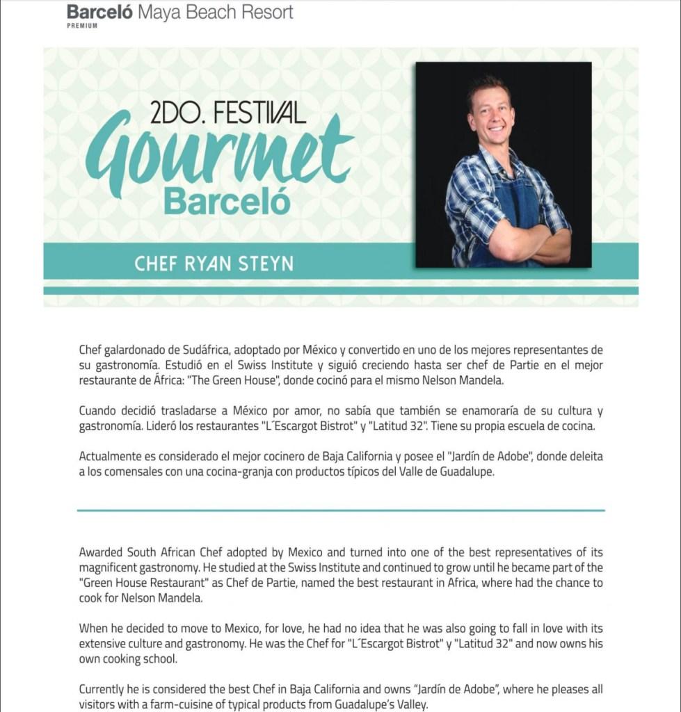Chef Ryan Steyn