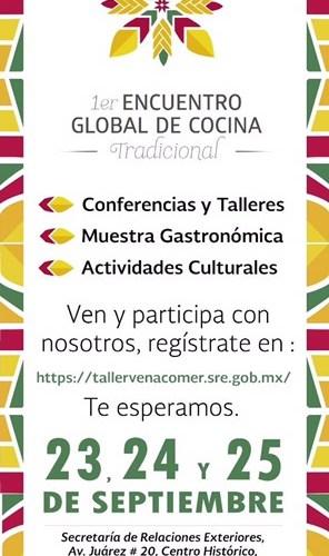 Primer Encuentro Global de Cocina Tradicional por @SRE_mx