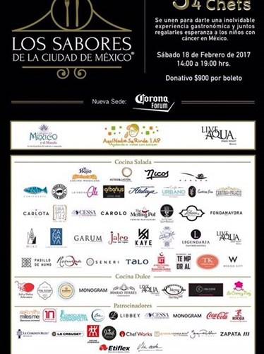 Los Sabores de la Ciudad de México regresan este 18 de Febrero a la CDMX, es hora de sumar la ayuda para nuestros niños.