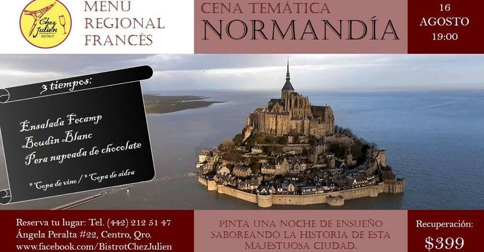 Cena temática Normandía en @BistrotChezJulien