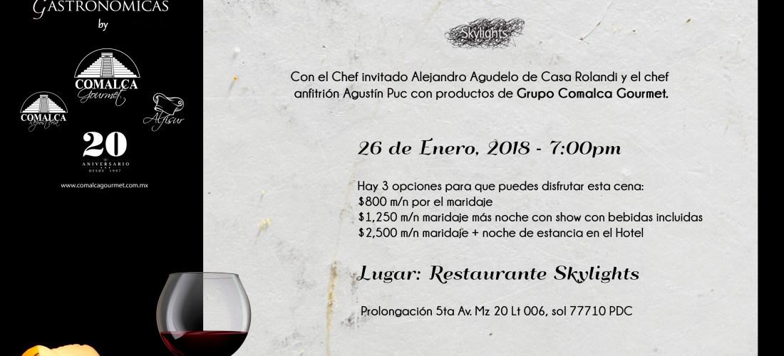 """Prepárate para la cena maridaje  #XperienciasGastronomicas by @Comalca Gourmet """"Sabores Añejos en Vanguardia"""" @SkylightsRestaurant @CasaRolandi"""