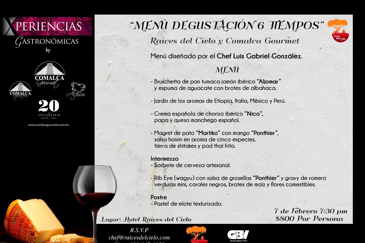#XperienciasGastronomicas by @comalcagourmet presenta MENÚ Degustación 6 Tiempos
