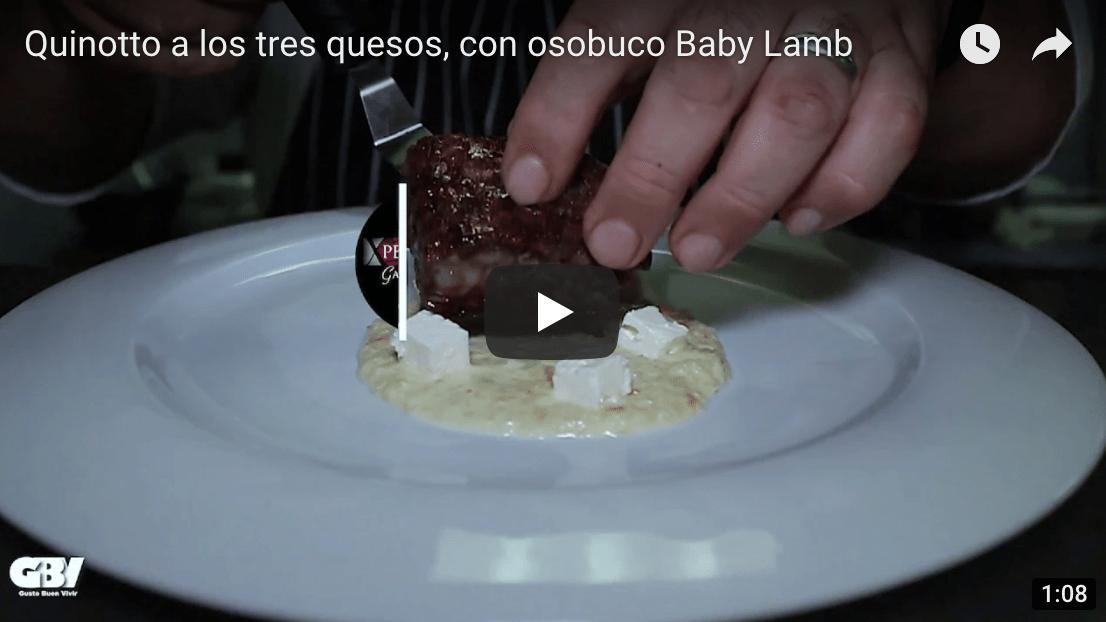 Quinotto a los tres quesos, con osobuco Baby Lamb