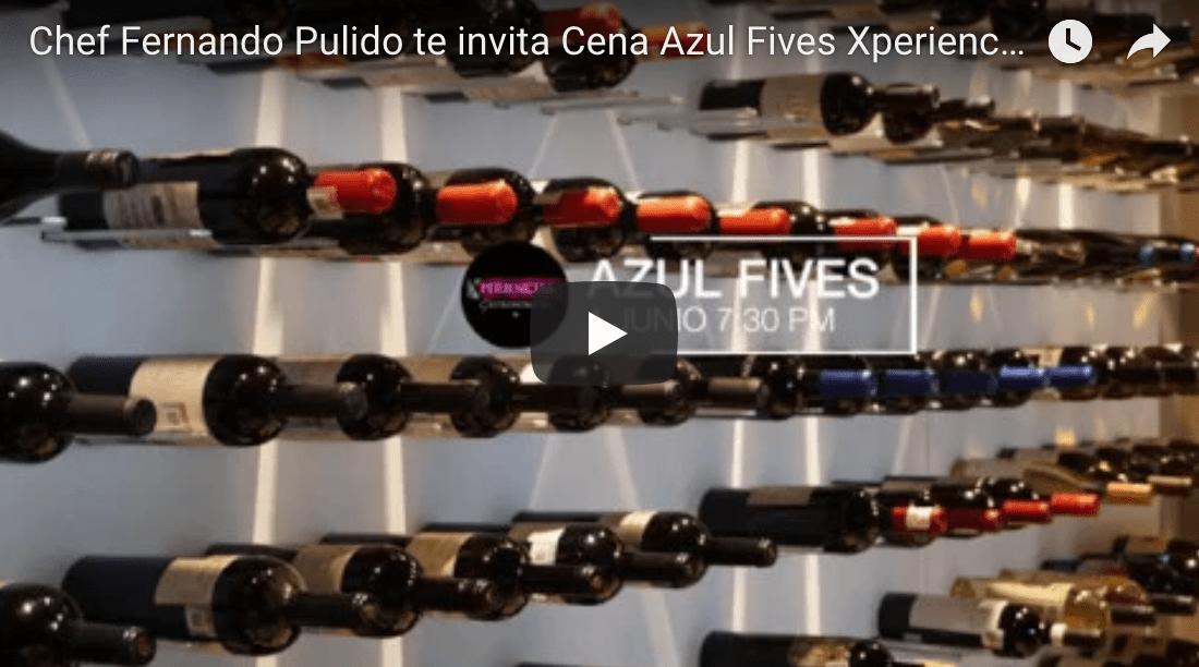 Invitación del Chef Fernando Pulido Cena Azul Fives 1 junio