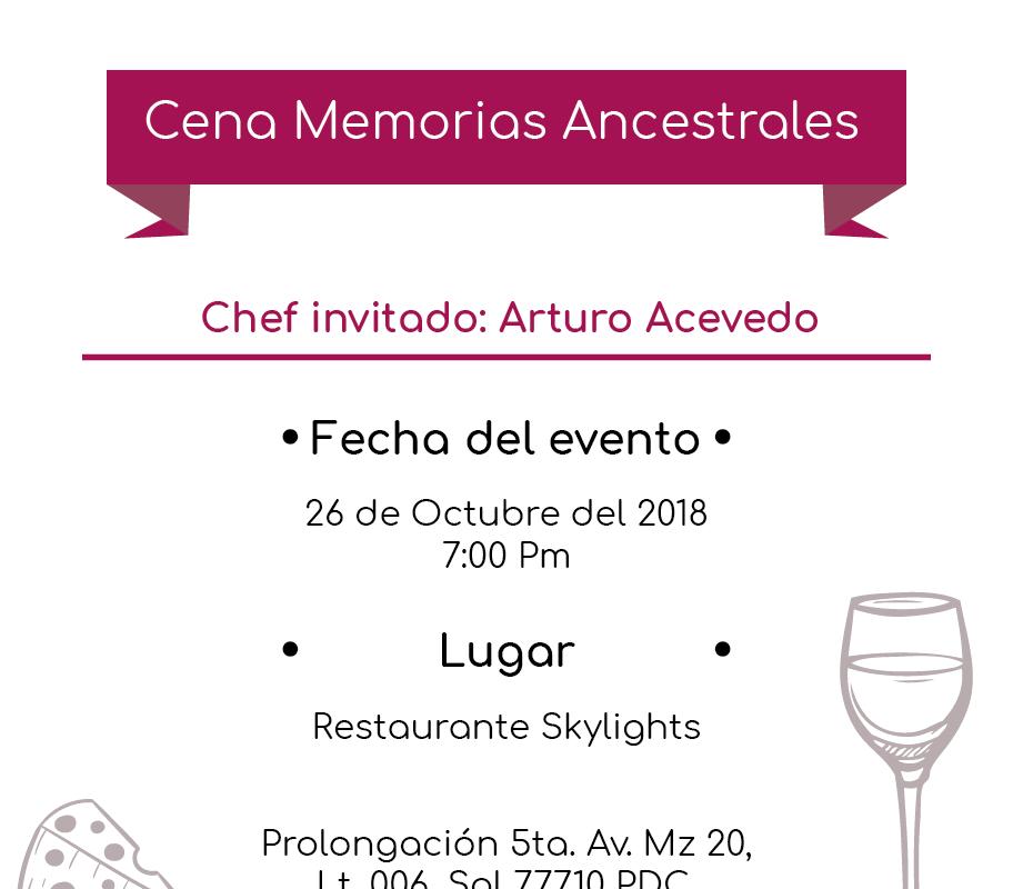 Cena Memorias Ancestrales 26 Octubre @PrincessHotels #XperienciasGastronomicas