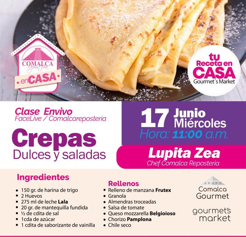 Crepas Dulces & Saladas by Comalca Repostería con Chef Lupita Zea