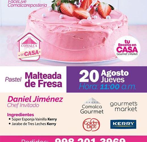 Pastel Malteada de Fresa by Comalca Repostería