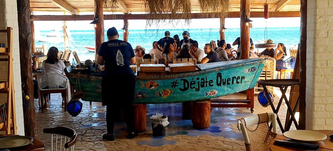 Muelle Once – opciones gastronómicas en Puerto Morelos, Cancún