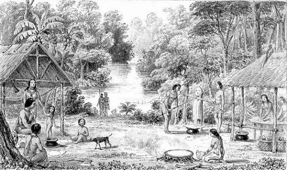 Indigenas cultivando (Cortesía: turmerohistoriahuellasytestimonio.blogspot.com)