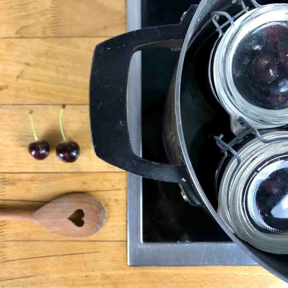 Koche die verschlossenen Gläser für gute 30 Minuten.