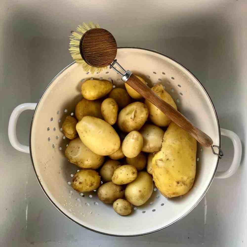 Kartoffeln nicht schälen.
