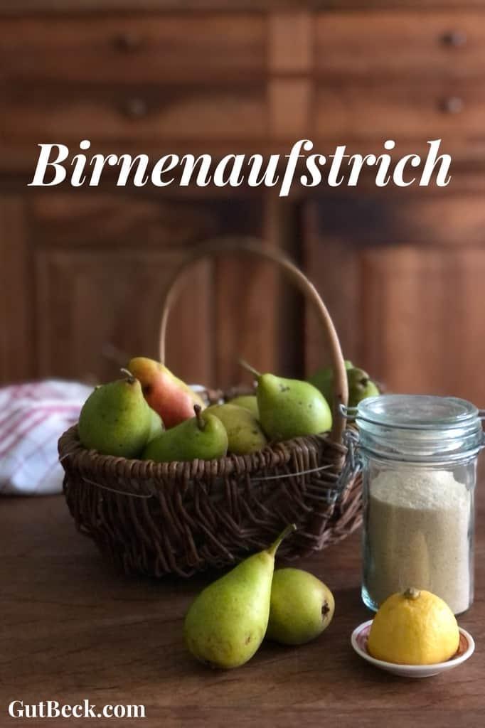 Birnenaufstrich