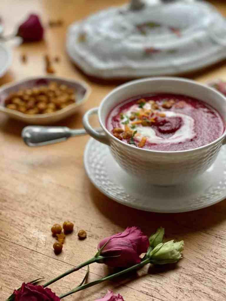 Rote Bete Kokos Suppe