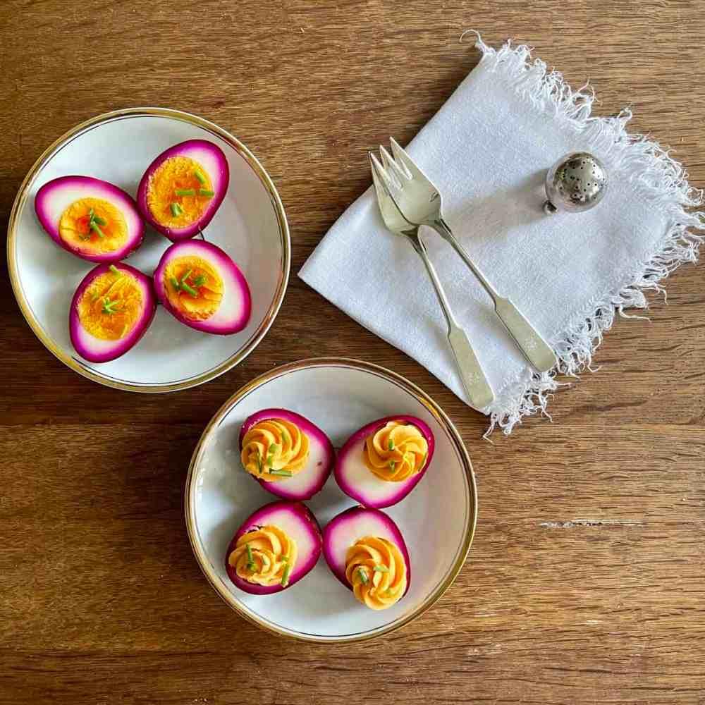 Rote Bete Eier