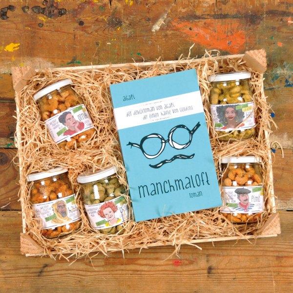 Geschenkbox Cashews mit Buch