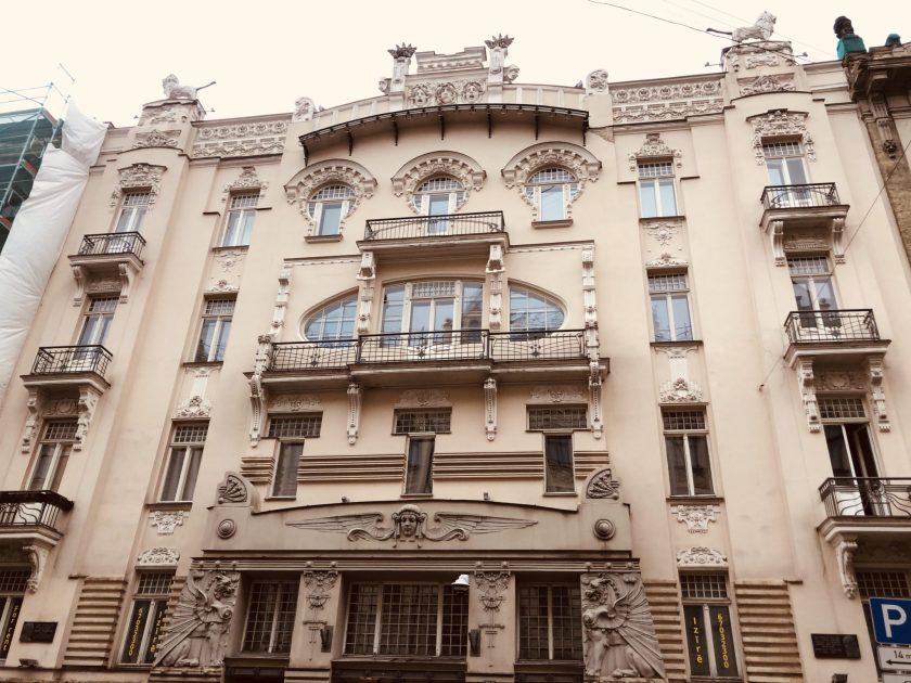 Das Haus im Jugendstil ist die Visitenkarten der lettischen Hauptstadt Riga: