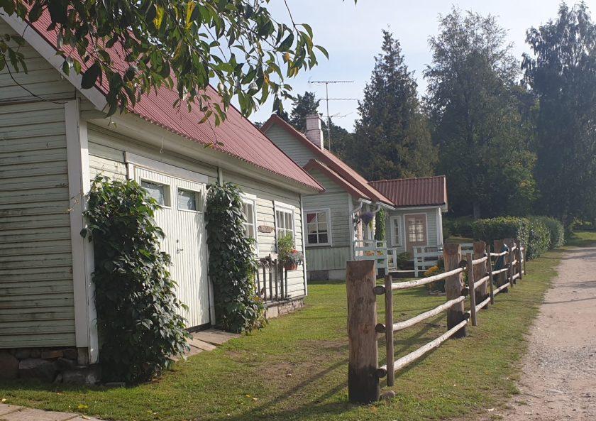 Das Wohnhaus von Pippi Langstrumpf ist ein typisches estnisches Holzhaus