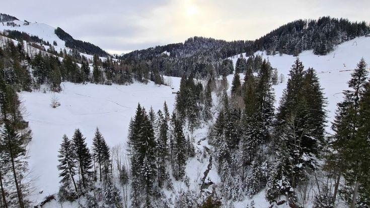 Landschaft Hochstuckli