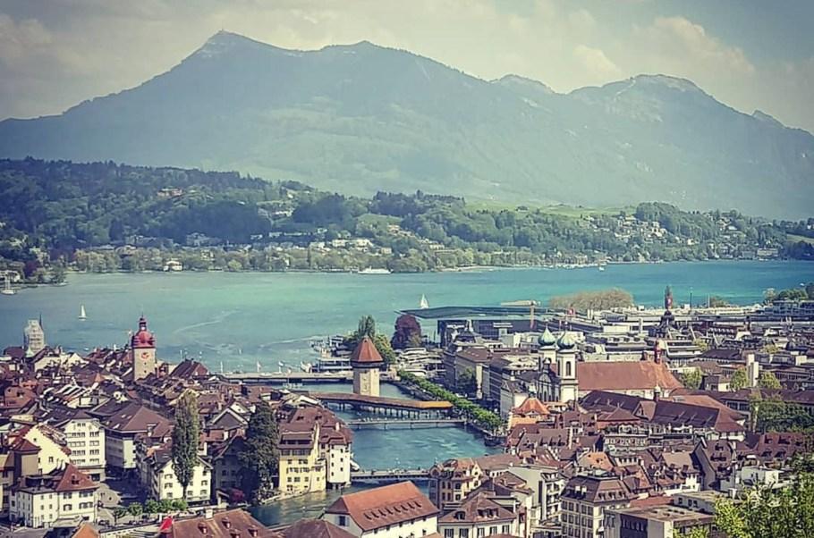 Blick vom Gütsch auf Luzern