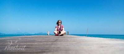 Auf dem Ao Tan Beach Pier