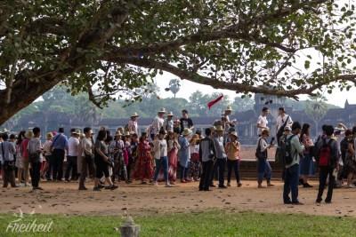Angkor Wat - die nächste Gruppe, bitte
