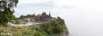 Wat Sampeau Pram hoch oben im Bokor Nationalpark