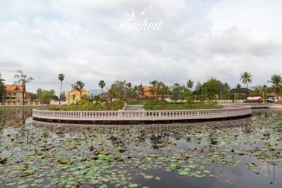 Seerosenteich in Kampot