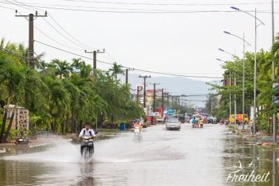 Wenn es mal regnet in Kampot