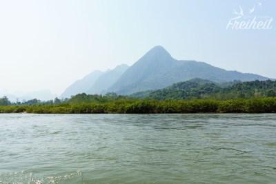 Landschaftlich voll schön auf dem Nam Ou