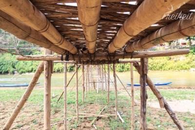 Tolle Konstruktion, die nach jeder Regenzeit wieder aufgebaut wird