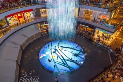 Shopping Mall mit coolen digitalen Effekten - die Kids sind begeistert :)