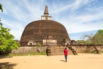 Rankoth Vehera - die höchste Stupa von Polonnaruwa und die vierthöchste des Landes