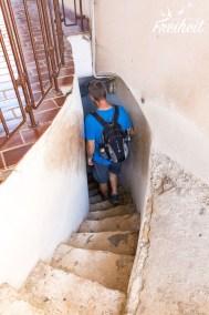 Enge Treppe zur Aussichtsplattform