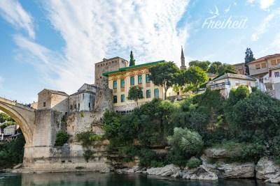 Ostseite von Mostar - hier leben hauptsächlich Bosniaken