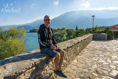 Sveti Naum - Blick auf den Ohrid See und das Galičica-Gebirge