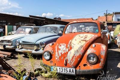 Klassiker wie ein Wartburg oder Käfer dürfen natürlich nicht fehlen :)