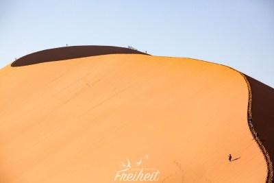 Aber auf diese hier wollen wir: Düne 45 in der Namib