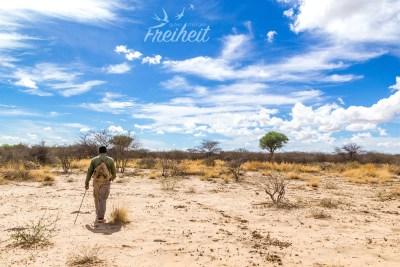Unterwegs mit einem Guide zu den Nashörnern