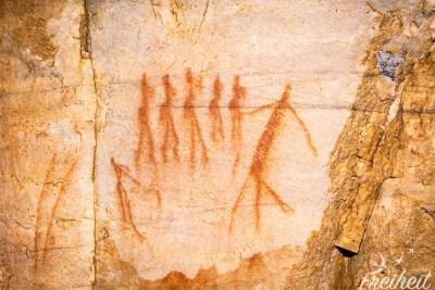 Die San haben viele Felsmalereien hinterlassen