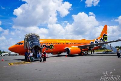 Mango Airline hat mal 'ne auffällige Bemalung :)