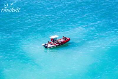 Mal ist das Wasser so hellblau wie an der Südsee...