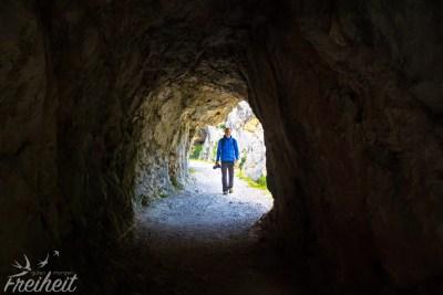 Einer von vielen Tunneln