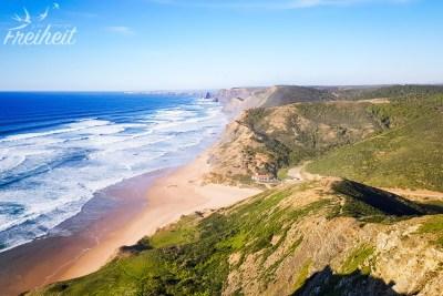 Blick auf den Praia da Cordoama
