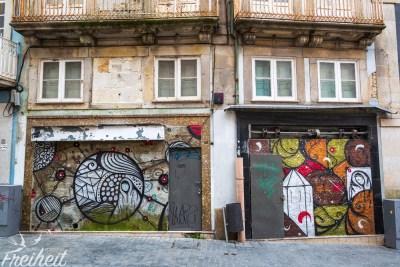 Ab und an treffen wir auch auf Straßenkunst