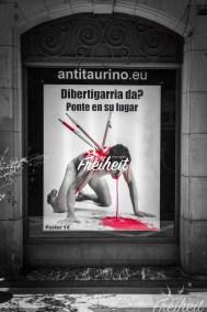 Tolle Kampagne, die sich gegen den Stierkampf ausspricht
