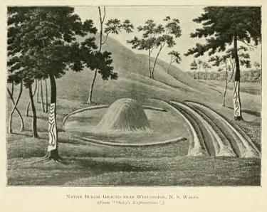 Native Burial Ground near Wellington, N. S. Wales. (From 'Oxley's Explorations')