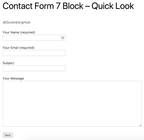 Contact From 7 Block