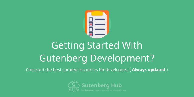 Gutenberg Development Resources