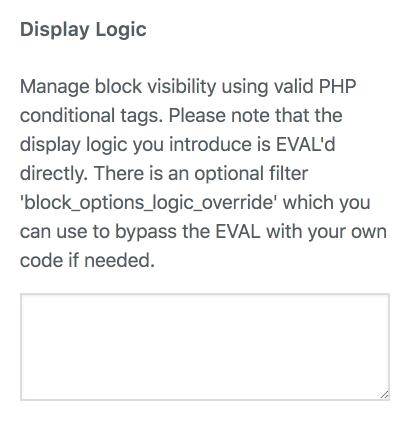 Block Display Logic